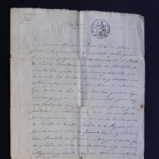 Manuscritos antiguos: MANUSCRITO 1849 / FISCAL 2º / VENTA DE UNA VIÑA POR CUATRO ONZAS DE ORO / BARBASTRO / HUESCA. Lote 83041688