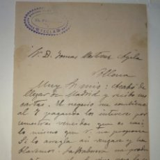 Manuscritos antiguos: CARTA MANUSCRITA CÍRCULO POLÍTICO YECLA A DON TOMÁS MARTÍNEZ AYALA VILLENA 1892. Lote 83296354