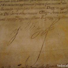 Manuscritos antiguos: PSEUDO EJECUTORIA. CREACIÓN DEL MARQUESADO DE BENAVITES, FIRMA FELIPE IV. 18 DE MAYO DE 1628. PERGAM. Lote 83955884