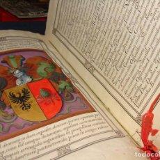 Manuscritos antiguos: ELCHE. PRIVILEGIO MILITAR SALVADOR PERPIÑAN. PERGAMINO MANUSCRITO ILUMINADO FIRMADO FELIPE IV. 1630. Lote 84081692