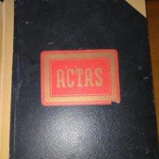 Manuscritos antiguos: LIBRO DE ACTAS MANUSCRITO 1960 DE LA COMUNIDAD DE REGANTES RIEGO NUEVO DEL MOLINAR ALCOY !!ÚNICO!!. Lote 84529627