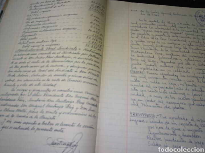 Manuscritos antiguos: LIBRO DE ACTAS MANUSCRITO 1960 DE LA COMUNIDAD DE REGANTES RIEGO NUEVO DEL MOLINAR ALCOY !!ÚNICO!! - Foto 6 - 84529627