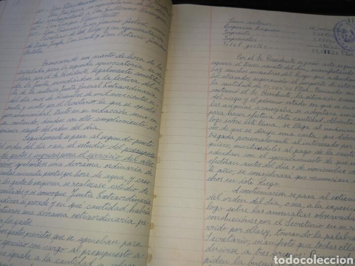 Manuscritos antiguos: LIBRO DE ACTAS MANUSCRITO 1960 DE LA COMUNIDAD DE REGANTES RIEGO NUEVO DEL MOLINAR ALCOY !!ÚNICO!! - Foto 8 - 84529627
