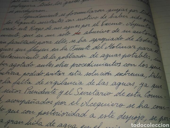 Manuscritos antiguos: LIBRO DE ACTAS MANUSCRITO 1960 DE LA COMUNIDAD DE REGANTES RIEGO NUEVO DEL MOLINAR ALCOY !!ÚNICO!! - Foto 10 - 84529627