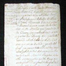 Manuscritos antiguos: AÑO 1733. OSUÑA. SEVILLA. GASTOS DE ALBAÑILERÍA, ALARIFES, CALDEROS, ETC. MARQUÉS DE VALLEHERMOSO. . Lote 84913372
