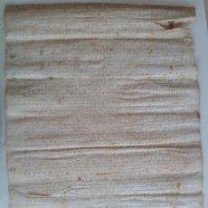 Manuscritos antiguos: AÑO 1387 PERGAMINO MEDIEVAL * RUPIA BAIX EMPORDA CASAS DE SANT ISCLE D´EMPORDA * 54 X 38 CM. Lote 85146296