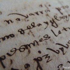 Manuscritos antiguos: NAVARRA. LOS ARCOS. 1411. 1536? PLEITO USO ACEQUIA OBISPO. SIGNO NOTARIO.. Lote 85426572