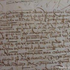 Manuscritos antiguos: VENTA DE UNA VIÑA. LEONOR DE ALBARADO A JUAN DE CARRIÓN. VALLADOLID 24 DE DICIEMBRE DE 1537.. Lote 85430008