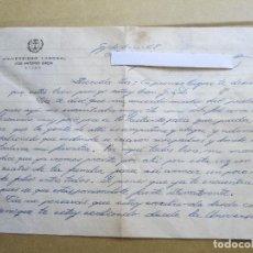Manuscritos antiguos: ANTIGUA CARTA MANUSCRITA DE UN ALUMNO DE LA UNIVERSIDAD LABORAL JOSE ANTONIO GIRON DE GIJON.. Lote 86285496