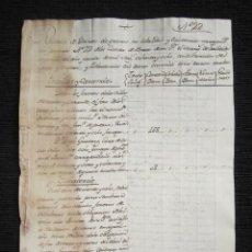 Manuscritos antiguos: AÑO 1790. LEÓN. RELACIÓN DE DEBITOS MARQUÉS DE VALVERDE. ORCADAS Y CARANDE, VILLAVERDE, LA BAÑEZA,... Lote 86464424