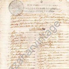 Manuscritos antiguos: CASTILLEJA DE LA CUESTA, SEVILLA,1708, RELACION DE VECINOS DE LA CALLE REAL QUE SUFRAGAN UN CUARTEL. Lote 87297568