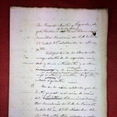 Manuscritos antiguos: COPIA ACTA NOMBRAMIENTO PRESIDENTE SOCIEDAD DEL LICEO. MANUSCRITO. ESPAÑA. 1909. Lote 87499916