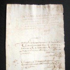 Manuscritos antiguos: AÑO 1629. TORO, ZAMORA. BONITO DOCUMENTO JUDICIAL. . Lote 87623824