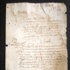 Manuscritos antiguos: AÑO 1629. TORO, ZAMORA. BONITO DOCUMENTO JUDICIAL. . Lote 87623892