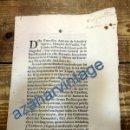 Manuscritos antiguos: SANLUCAR LA MAYOR, SEVILLA,1716, CUARTEL PARA REGIMIENTO DE DRAGONES DESMONTADOS, LEER. Lote 87841600