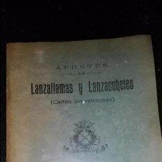 Manuscritos antiguos: APUNTES DE LANZALLAMAS Y LANZACOHETES - (CAÑON SIN RETROCESO)-ESCUELA NAVAL MILITAR MARIN-1960. Lote 88028208