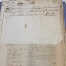 Manuscritos antiguos: MANUSCRITO SIGLO XVII IMPORTANTÍSIMO MANUSCRITO AÑO 1678.CON 147 PAGINAS Y 26 DE ELLAS CON TIMBRE.. Lote 88139732