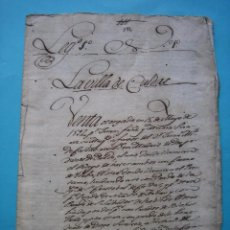 Manuscritos antiguos: ASTURIAS - CALDAS - 15 MAYO 1592 - DOCUMENTO SIGLO XVI - BUEN ESTADO - VER. Lote 88144604
