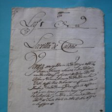Manuscritos antiguos: ASTURIAS - CALDAS - 20 MAYO 1614 - DOCUMENTO SIGLO XVII - BUEN ESTADO - VER. Lote 88146268
