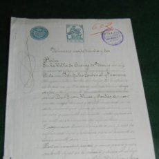Manuscritos antigos: PODER NOTARIA JULIO CARDENAL NAVARRO, ARENYS DE MAR 1911. Lote 88982176