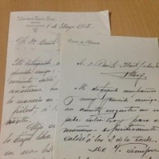 Manuscritos antiguos: CARTAS MANUSCRITAS CALVO FONT ABOGADO CASINO ALICANTE 1913. Lote 89074204