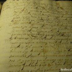 Manuscritos antiguos: MANUSCRITO JUAN DE SALINAS Y FAMILIARES CONVENTO MADRE DE DIOS TORRELAGUNA SIGLO XVII Y XVIII MADRID. Lote 89114540