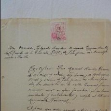 Manuscritos antiguos: ANTIGUA CARTA BUENA CONDUCTA.MANUEL RINCON GOMEZ.SAN JUAN AZNALFARACHE.SEVILLA.1941. Lote 89312736