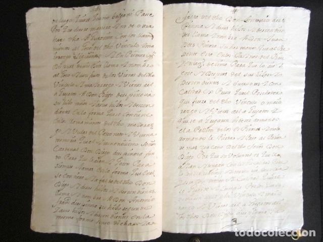 Manuscritos antiguos: AÑO 1733. MARTÍN MUÑOZ DE LAS POSADAS. SEGOVIA. CÁDIZ. JUAN ESPINOSA, ORDEN ALCÁNTARA. REINO DE PERÚ - Foto 2 - 89421128