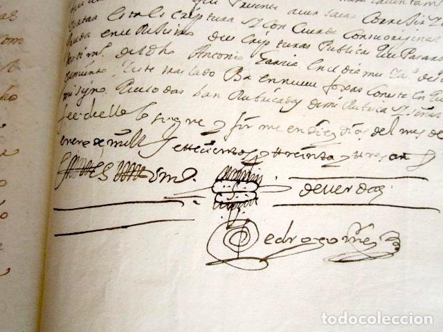 Manuscritos antiguos: AÑO 1733. MARTÍN MUÑOZ DE LAS POSADAS. SEGOVIA. CÁDIZ. JUAN ESPINOSA, ORDEN ALCÁNTARA. REINO DE PERÚ - Foto 3 - 89421128