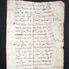 Manuscritos antiguos: AÑO 1759. MOYA. LUGO. HERENCIA DE PLANTÍO DE VIÑA. 800 CEPAS, 700 CEPAS A 7 CUARTOS, 100 CEPAS,.... Lote 89421628