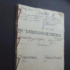 Manuscritos antiguos: MANUSCRITO 1867 / PROCESO ENTRE VECINO SANT LLORENÇ SAVALL Y VECINOS DE MOIÀ / 60 PAGINAS. Lote 89608492