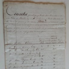 Manuscritos antiguos: 1840 * LEGAJO CUENTAS Y 19 RECIBOS VERDESOTO * MEDINA DEL CAMPO AREVALO ORBITA ESPINOSA ATAQUINES ... Lote 90043164