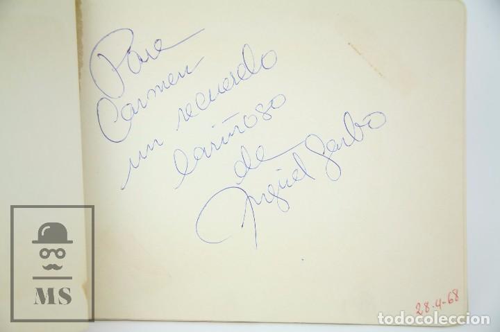 Manuscritos antiguos: Libreta de los Años 60 con Multitud de Autógrafos de Artistas y Jugadores de Fútbol de la Época - Foto 6 - 90522625