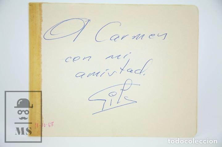 Manuscritos antiguos: Libreta de los Años 60 con Multitud de Autógrafos de Artistas y Jugadores de Fútbol de la Época - Foto 8 - 90522625