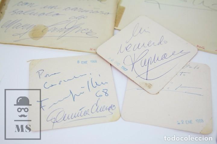 Manuscritos antiguos: Libreta de los Años 60 con Multitud de Autógrafos de Artistas y Jugadores de Fútbol de la Época - Foto 11 - 90522625