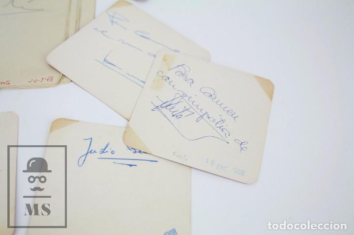 Manuscritos antiguos: Libreta de los Años 60 con Multitud de Autógrafos de Artistas y Jugadores de Fútbol de la Época - Foto 12 - 90522625