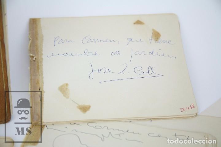 Manuscritos antiguos: Libreta de los Años 60 con Multitud de Autógrafos de Artistas y Jugadores de Fútbol de la Época - Foto 13 - 90522625