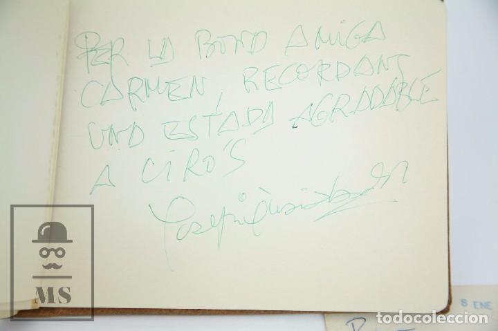 Manuscritos antiguos: Libreta de los Años 60 con Multitud de Autógrafos de Artistas y Jugadores de Fútbol de la Época - Foto 18 - 90522625