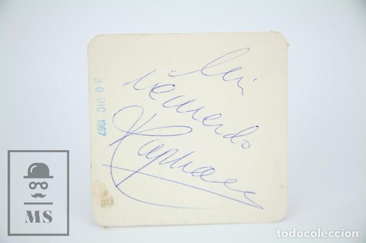 Manuscritos antiguos: Libreta de los Años 60 con Multitud de Autógrafos de Artistas y Jugadores de Fútbol de la Época - Foto 22 - 90522625