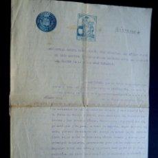 Manuscrits anciens: MANUSCRITO 1937 ( FISCAL 8º ) CERTIFICADO JUEZ MUNICIPAL / MADRID / GUERRA CIVIL. Lote 90905620