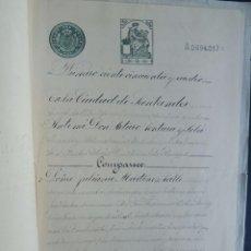Manuscritos antiguos: MANUSCRITO 1918 ( 9ª CLASE ) DADO EN SANTANDER / CANTABRIA / CUBIERTA DEL COLEGIO NOTARIAL DE BURGOS. Lote 90929670