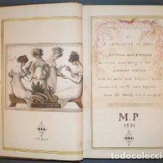 Manuscritos antiguos: MARGARET PIGOT: INDEX TESTALOGICUS OR A CATALOGUE OF SHELLS BRITISH & FOREIGN. CONCHAS, MALACOLOGIA.. Lote 93380940