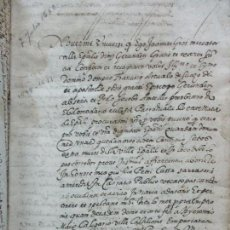 Manuscritos antiguos: [MANUSCRITO]. LA BISBAL. CONFESSIONS FETAS PER LA CASA DE GROS Y ALTRES.... Lote 93652235