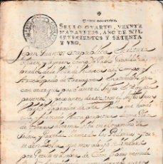 Manuscritos antiguos: MANUSCRITO CON FISCALES AÑO 1771 DE VILA-SECA (VILASECA) -TARRAGONA 9 PÁGINAS -2 FISCALES. Lote 94163645