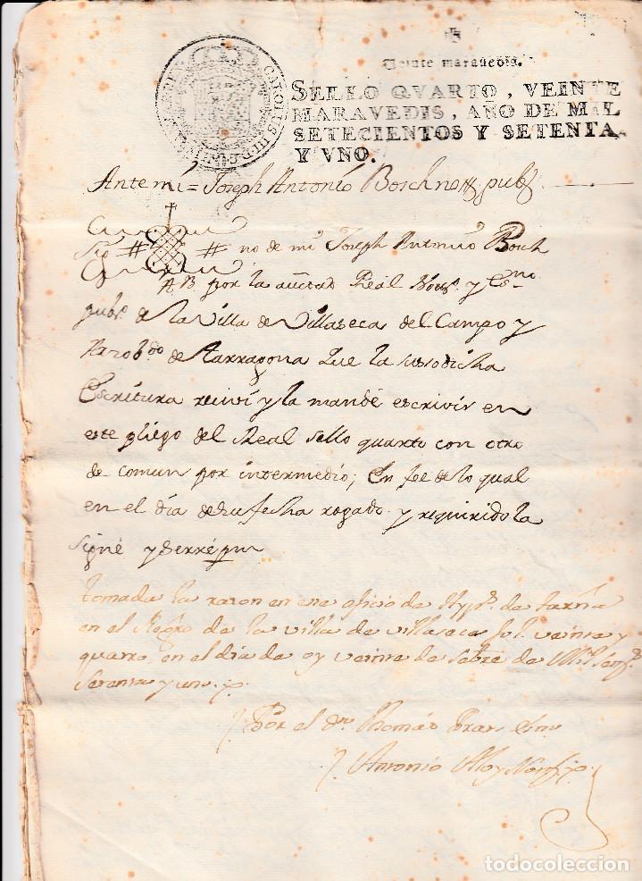 Manuscritos antiguos: MANUSCRITO CON FISCALES AÑO 1771 DE VILA-SECA (VILASECA) -TARRAGONA 9 PÁGINAS -2 FISCALES - Foto 2 - 94163645