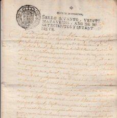 Manuscritos antiguos: MANUSCRITO CON FISCALES AÑO 1777 DE VILA-SECA (VILASECA) -TARRAGONA 5 PÁGINAS -2 FISCALES. Lote 94164570