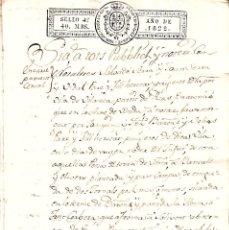 Manuscritos antiguos: MANUSCRITO CON FISCALES AÑO 1822 DE VILA-SECA (VILASECA) -TARRAGONA 6 PÁGINAS -2 FISCALES. Lote 94165265