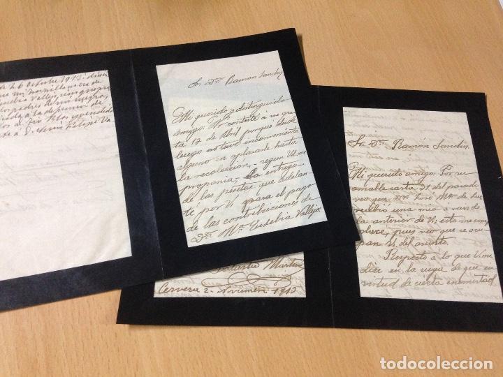 ANTIGUAS CARTAS MANUSCRITAS CERVERA 1913 (Coleccionismo - Documentos - Manuscritos)