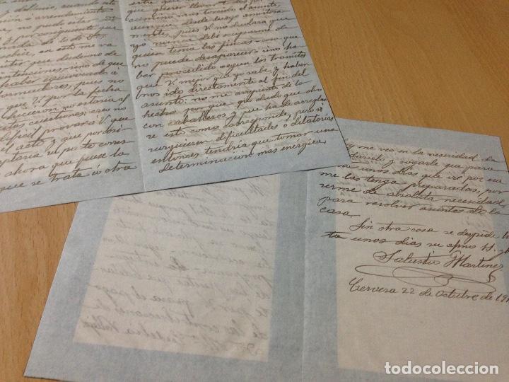 Manuscritos antiguos: ANTIGUAS CARTAS MANUSCRITAS CERVERA 1913 - Foto 2 - 94430958