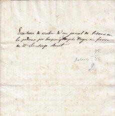 Manuscritos antiguos: 1846. SELLO EN SECO FISCAL DE OFICIO 4 MARAVEDIS DOCUMENTO TIMBRADO PAPEL SELLADO. ISABEL II. BLANCO. Lote 95161411